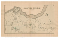 Lower Mills - Milton, Massachusetts 1876 Old Town Map Reprint - Norfolk Co.