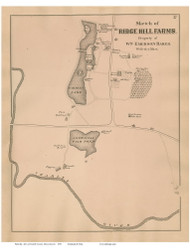 Ridge Hill Farms - Needha,, Massachusetts 1876 Old Town Map Reprint - Norfolk Co.