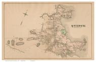 Quincy, Massachusetts 1876 Old Town Map Reprint - Norfolk Co.