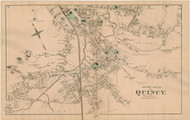Quincy Village - South Section, Massachusetts 1876 Old Town Map Reprint - Norfolk Co.