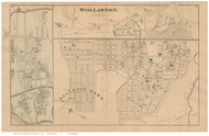 Wollaston and Atlantic Villages - Quincy, Massachusetts 1876 Old Town Map Reprint - Norfolk Co.