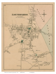 East Stoughton, Massachusetts 1876 Old Town Map Reprint - Norfolk Co.