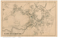 East Weymouth, Massachusetts 1876 Old Town Map Reprint - Norfolk Co.