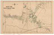 South Weymouth, Massachusetts 1876 Old Town Map Reprint - Norfolk Co.