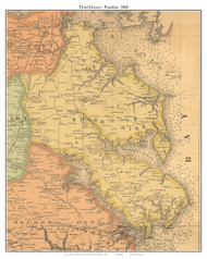 3rd District, Pasadena, Maryland 1860 Old Town Map Custom Print - Anne Arundel Co.
