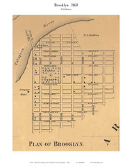 Brooklyn (part of) - 5th District, Brooklyn, Maryland 1860 Old Town Map Custom Print - Anne Arundel Co.