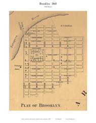 Brooklyn (part of) - 5th District, Brooklyn, Maryland 1860 Old Town Map Custom Print - Anne Arundel Co.