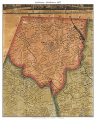 6th District - Middletown, Maryland 1857 Old Town Map Custom Print - Baltimore Co.