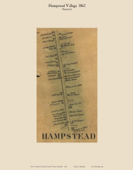 Hampstead Village - Hampstead, Maryland 1862 Old Town Map Custom Print - Carroll Co.