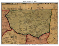 3rd District - Myers, Maryland 1862 Old Town Map Custom Print - Carroll Co.