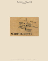 Warfieldsburg Village - Westminster, Maryland 1862 Old Town Map Custom Print - Carroll Co.