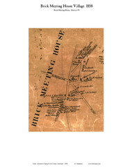 Brick Meeting House Village - Brick Meeting House, Maryland 1858 Old Town Map Custom Print - Cecil Co.