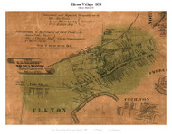 Elkton Village - Elkton, Maryland 1858 Old Town Map Custom Print - Cecil Co.