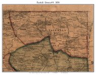 4th District - Fairhill, Maryland 1858 Old Town Map Custom Print - Cecil Co.