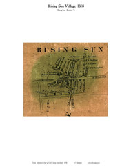Rising Sun Village - Rising Sun, Maryland 1858 Old Town Map Custom Print - Cecil Co.