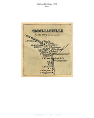 Sabillasville - Hauvers, Maryland 1858 Old Town Map Custom Print - Frederick Co.