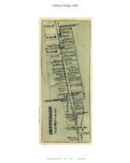 Jefferson Village, Maryland 1858 Old Town Map Custom Print - Frederick Co.