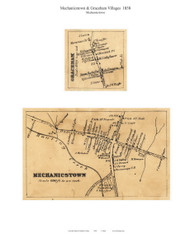 Mechanicstown and Graceham Villages - Mechanicstown, Maryland 1858 Old Town Map Custom Print - Frederick Co.