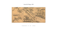 Petersville, Knoxville, Weverton, and Berlin Villages - Petersville, Maryland 1858 Old Town Map Custom Print - Frederick Co.