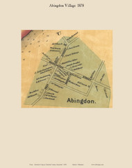 Abingdon Village - Abingdon, Maryland 1878 Old Town Map Custom Print - Harford Co.