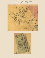 Aberdeen and Lapidum Villages - Halls Crossroads, Maryland 1878 Old Town Map Custom Print - Harford Co.