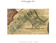 Elkridge Landing (1st District), Maryland 1860 Old Town Map Custom Print - Howard Co.