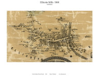 Ellicotss Mills Village (2nd District), Maryland 1860 Old Town Map Custom Print - Howard Co.