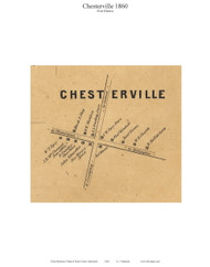 Chesterville Village - Betterton, Maryland 1860 Old Town Map Custom Print - Kent Co.