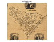 Chestertown Village - Chestertown, Maryland 1860 Old Town Map Custom Print - Kent Co.