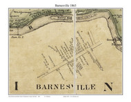 Barnesville, Maryland 1865 Old Town Map Custom Print - Montgomery Co.