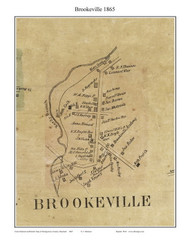 Brookville, Maryland 1865 Old Town Map Custom Print - Montgomery Co.