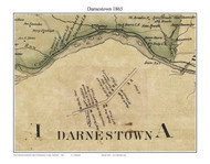 Darnestown, Maryland 1865 Old Town Map Custom Print - Montgomery Co.