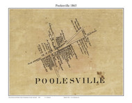 Poolesville, Maryland 1865 Old Town Map Custom Print - Montgomery Co.
