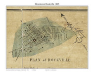Rockville, Maryland 1865 Old Town Map Custom Print - Montgomery Co.