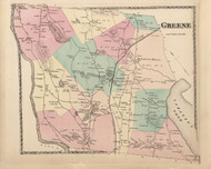 Greene, Maine 1873 Old Town Map Print - Androscoggin Co.
