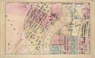 Lewiston - Auburn Ward 3, Maine 1873 Old Town Map Print - Androscoggin Co.
