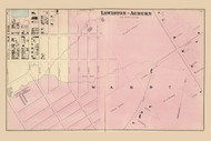 Lewiston - Auburn Ward 7, Maine 1873 Old Town Map Print - Androscoggin Co.