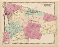 Minot, Maine 1873 Old Town Map Print - Androscoggin Co.
