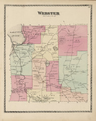 Webster, Maine 1873 Old Town Map Print - Androscoggin Co.