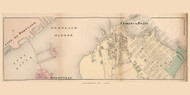 Cushing Point Village - Cape Elizabeth, Maine 1871 Old Town Map Reprint Cumberland Co.