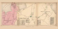 Ferry Village, Point Village, Knightville, and Buzzell's Hill Villages - Cape Elizabeth, Maine 1871 Old Town Map Reprint Cumberland Co.