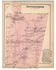 New Gloucester, Maine 1871 Old Town Map Reprint Cumberland Co.