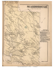 Scarborough, Maine 1871 Old Town Map Reprint Cumberland Co.
