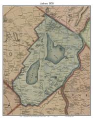 Auburn, Maine 1858 Old Town Map Custom Print - Androscoggin Co.