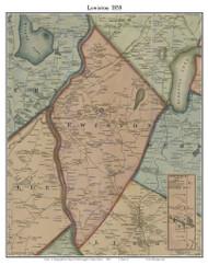 Lewiston, Maine 1858 Old Town Map Custom Print - Androscoggin Co.