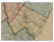 Lisbon, Maine 1858 Old Town Map Custom Print - Androscoggin Co.