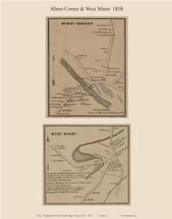 Minot Corner & West Minot, Maine 1858 Old Town Map Custom Print - Androscoggin Co.