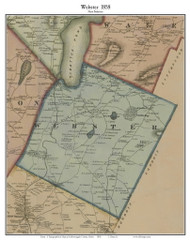 Webster, Maine 1858 Old Town Map Custom Print - Androscoggin Co.