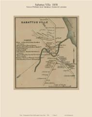 Sabattus Ville, Maine 1858 Old Town Map Custom Print - Androscoggin Co.