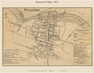 Brunswick Village, Maine 1857 Old Town Map Custom Print - Cumberland Co.